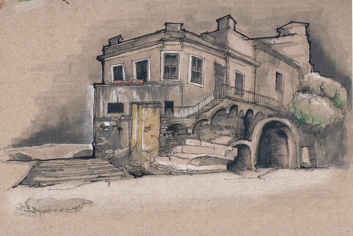 sketch isola tiberina